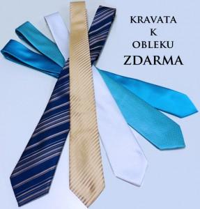 Kravata k obleku zdarma