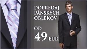 dopredaj panskych oblekov